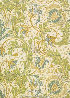 Teazle wallpaper, by Walter Crane. England, 1894