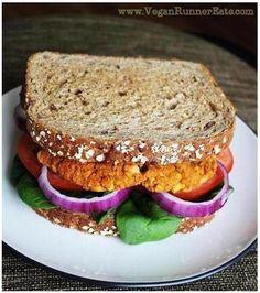 VEGAN chickpea and sweet potato veggie burgers