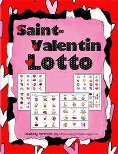 French Valentine's Day Bingo - you have to pay for this, but i will prob just copy some of the words