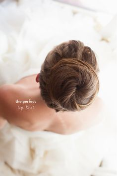 The perfect top knot. #bridal #hair #wedding Bridal Hair Round Up  Read more - http://www.stylemepretty.com/new-york-weddings/2013/08/02/bridal-hair-round-up/