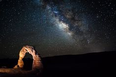 Under the Stars at Delicate Arch by michael.mclean on Flickr.