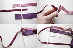 Ribbon Wands for ceremony exit.