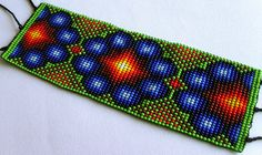Mexican Huichol Beaded Peyote Bracelet by Aramara on Etsy, $25.00
