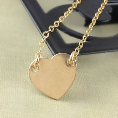 Charlize Theron, Replica, Gold Heart Necklace, Celebrity Necklace, Young Adults, Fashion Jewelry, Christmas Gift, Gold Filled, Dainty. $32.00, via Etsy.