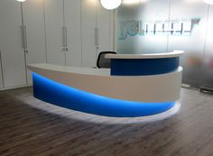 1 x LED strip led's). 1 x Power Adapter. This Complete KIT Includes Pre Applied Tape sticks to clean, dry, smooth surface. Curved Reception Desk, Office Reception Design, Office Table Design, Reception Desks, Reception Counter Design, Medical Office Design, Pharmacy Design, Chiropractic Office Design, Nurses Station