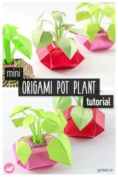 Paper Origami Flowers, Origami Leaves, Origami Flowers Tutorial, Origami And Kirigami, Origami Easy, Easy Origami Tutorial, Paper Folding Crafts, Easy Paper Crafts, Paper Crafts Origami