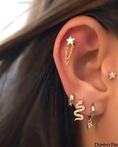 Bijoux Piercing Septum, Piercing Face, Pretty Ear Piercings, Ear Piercings Chart, Piercing Chart, Ear Peircings, Facial Piercings, Ear Piercings Cartilage, Multiple Ear Piercings