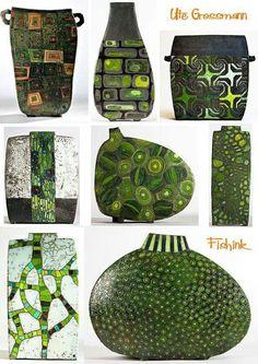 Ute Grosman - wow beautiful shades of green!