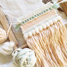 ➰hand woven art for your walls ➰weaving workshops Weaving Yarn, Weaving Textiles, Tapestry Weaving, Basket Weaving, Hand Weaving, Diy Crochet Wall Hanging, Crochet Wall Hangings, Woven Wall Hanging, Yarn Wall Art