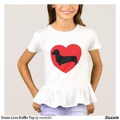 Doxie Love Ruffle Top