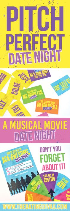 Pitch Perfect Movie Date Night idea with fun games and themed food ideas!