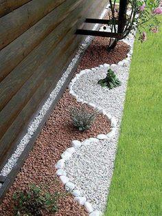 amenajarea gradinii cu pietris Pebble garden decoration ideas 4