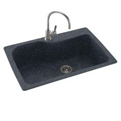 Swan Dual Mount Composite 33 in. 1-Hole Single Bowl Kitchen Sink in Night Sky-KS03322SB.012 - The Home Depot