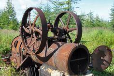 Остров Большой Шантар. Паровая машина китобойного завода, конец XIX века