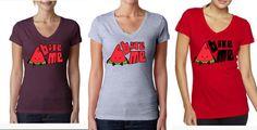 Bite me Fruit Ladies V-neck shirt - vegan shirt - vegan clothing - watermelon shirt