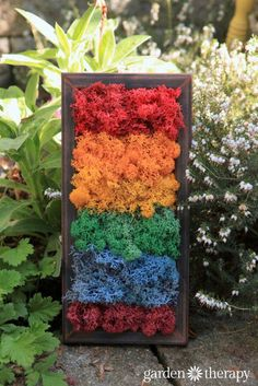 Moss Art can be made in every color of the rainbow. See how here.