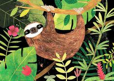 """2,630 Me gusta, 38 comentarios - Carmen Saldaña (@carmensaldana_illustration) en Instagram: """"Señor Perezoso estará pronto a la venta en mi tienda Etsy ¿Os gusta? //// Mr Sloth will be for…"""""""