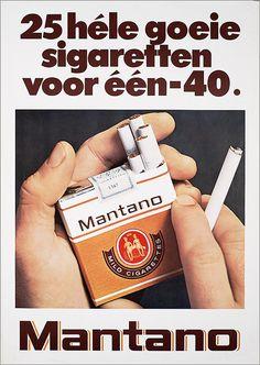 Roken binnen was nog heel gewoon. en mijn ma rookte mantano!