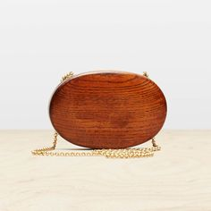 Kagan Miniaudiere in Mahogany/Brass by Trademark
