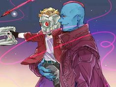 This is adorable! Why did Yondu have to die? Marvel Fan Art, Marvel Comics Art, Marvel Avengers, Yondu Udonta, Gardians Of The Galaxy, Funny Marvel Memes, Mundo Comic, Fanart, Star Lord
