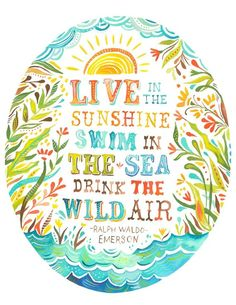 Live in the sunshine....