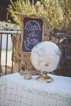 have your guests sign a glob when they arrive