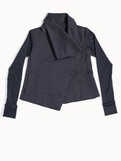 Sophisticated Draped workout jacket