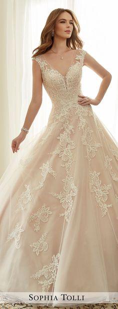 Wedding Dress by Sophia Tolli Spring 2017 Bridal Collection | Style No. » Y11705 Estelle