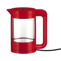 BISTRO Electric water kettle, double wall, 1.1 l, 37 oz Red