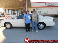 "Lisa Riggins from Ludlow, Missouri purchased this 2005 Cadillac Deville and wrote, ""We are repeat customers and have always had excellent customer service. Our salesman Jeff Henderson was excellent. I named a payment I could afford and was able to purchase an acceptable vehicle that met my price. Thank you!"" To view similar vehicles and more, go to www.wowwoodys.com today!"