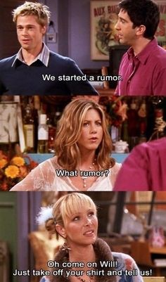 "Friends - ""The One with the Rumor"" (guest starring Brad Pitt)"