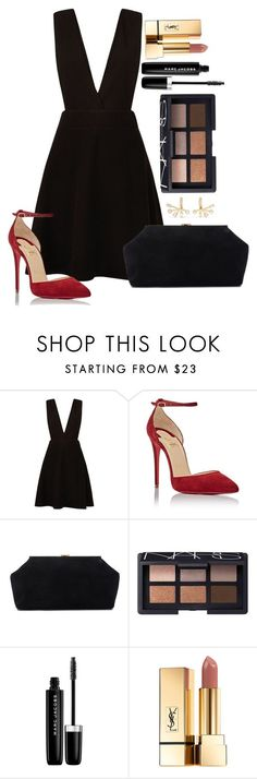 """Untitled  #1538 "" by fabianarveloc on Polyvore featuring New Look, Christian Louboutin, Mansur Gavriel, NARS Cosmetics, Marc Jacobs, Yves Saint Laurent and Elizabeth and James"
