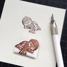 Little Buddha rubber stamps Reclining by icylamISEE on Etsy -- Bodhi Baby