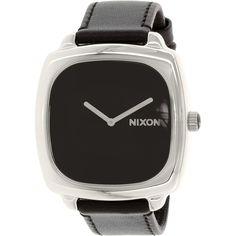 Nixon Men's Shutter A286000 Black Leather Quartz Watch