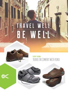 Traveling? We've Got the Shoes to Take You There! Travel Near or Travel Far Get Where You're Going In Comfort and Style  Spring is the season to venture out into the world. Enhance your sight-seeing experience by wearing the most comfortable travel shoes in the world. Focus on the things that matter. Travel Well and enjoy more energy through our powerful KURUSOLE™ technology. www.kurufootwear.com