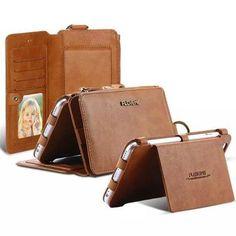Multi Function Retro PU Leather Wallet Zipper Pocket Kickstand Case For iPhone 6 Plus 6S Plus 5.5 Sale - Banggood.com
