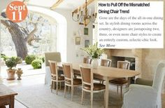 Decorating Ideas How to Pull Off the Mismatched Dining Chair Trend: www.teelieturner.com #decor