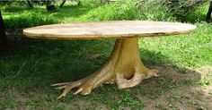 Check out the deal on Root Base Maple Oval' Oval Reclaimed Maple Top with Root Base at Eco First Art