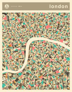 Poster | LONDON MAP von Jazzberry Blue | more posters at http://moreposter.de