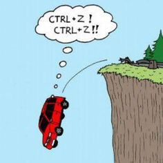 Alt, humor, and alt ctrl z! ctrl+z! Computer Humor, Funny Cartoons, Funny Jokes, Cartoon Humor, That's Hilarious, Funny Images, Funny Photos, Silly Pictures, Georges Wolinski