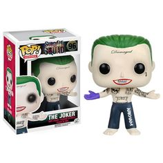 Suicide Squad The Joker Funko POP From Suicide Squad, The Joker (Shirtless), as a stylized POP vinyl from Funko! Stylized collectable stands 3 inches tall, perfect for any Suicide Squad fan! Collect and display all Suicide Squad Pop! Funko Other Pop Vinyl Figures, Pop Action Figures, Pop Figurine, Figurines Funko Pop, Funko Figures, Harley Quinn Et Le Joker, Joker Pop, Pop Batman, Dc Comics