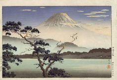 Tsuchiya Koitsu: Fuji from Lake Sai