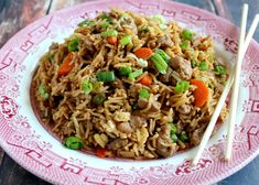 Tired of chicken or beef for dinner? Try serving pork! It's tasty, versatile and takes on the spices and seasonings of a recipe. Which means, it can be Asian pork fried rice one night, Danish pork chops with a mushroom. Rice Recipes, Asian Recipes, Cooking Recipes, Ethnic Recipes, Chinese Recipes, Asian Foods, Yummy Recipes, Quinoa, Deserts