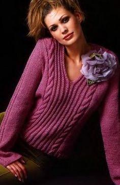 Пуловер женский с описанием