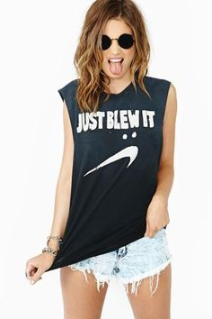 Blew It Muscle Tee by #UNIF