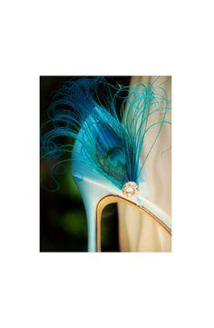 Something Blue Shoe Clips. Turquoise Peacock & par sofisticata