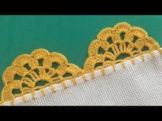 Crochet Lace Collar, Crochet Lace Edging, Crochet Trim, Crochet Doilies, Crochet Yarn, Crochet Stitches, Crochet Border Patterns, Crochet Boarders, Crochet Designs