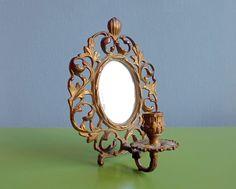 Antik+Spiegel+Messing+Wandleuchter+Kerzenleuchter++von+ILoveSparrows+auf+DaWanda.com