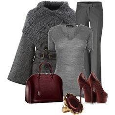 Grey Wine by elenh2005 on Polyvore