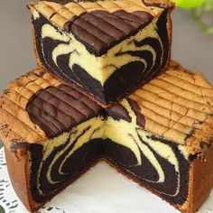 Marmer Cake, Resep Cake, Marble Cake Recipes, Fashion Cakes, Moist Cakes, Pastry Recipes, Sponge Cake, Sweet Cakes, Chocolate
